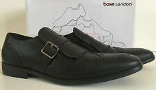 BASE LONDON SPICE BUCKLE BLACK LEATHER SHOES SIZE 12