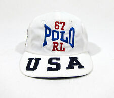VTG 90S POLO SPORT RALPH LAUREN STRAPBACK HAT CAP STADIUM 92 93 STAR USA PWING