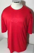Men's Reebok SpeedWick Relaxed Fit Red Ss T-Shirt Small Side Pocket Size 2Xl
