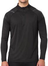 Asics Icon Half-Zip Long Sleeve Mens Running Top - Black