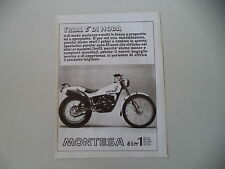 advertising Pubblicità 1981 MOTO MONTESA COTA 349 TRIAL