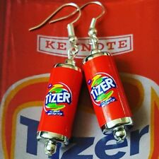 Unique TIZER EARRINGS handcrafted MIXED UP DOLLY drink POP soda RETRO vintage