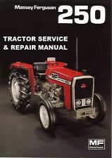 Massey Ferguson Mf250 Workshop Service Manuals 202pgs for Mf 250 Tractor Repair