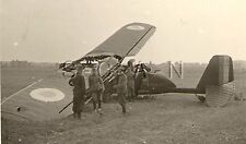 WWII German RP- Luftwaffe- Crippled French Airplane- Bregeut 27- France 1940