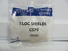NEW Titmus Bacou T-Loc TLoc Clip On Clear Side Shields CS79 H2301 ANSI Z87.1 NOS