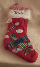 """Pottery Barn Stocking Truett Quilted Airplane Christmas 20"""" Nwt"""