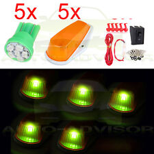 For Ford F-150 F-250 Amber cab marker light+194 6-3528-SMD Green LED+Wiring Pack