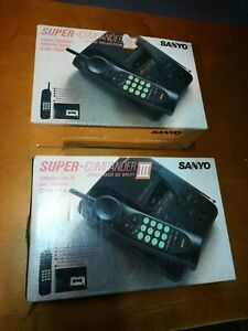 (2)Sanyo Super- Commander 3 CAS-1300 Cordless TelephoneAnswering System NewOld