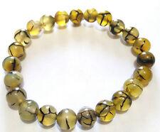 Dragon vein Yellow Bracelet 8mm – Creativity- Energy- Strength- Truth