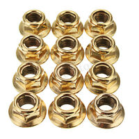 12x M8 Hex Copper Exhaust Manifold Pipe Nuts Self Locking For BMW 3 Series
