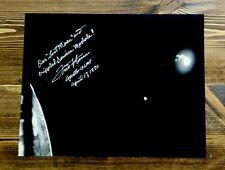 "Fred Haise Apollo 13 Lmp Astronaut Autograph Signed 8"" X 10"" B&W Photograph"
