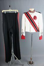 Vtg Men's 1960s 1970s Marching Band Uniform Jacket L 42 Pants 29-35x35 60s 70s