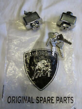 Lamborghini Miura outer door lock buttons handle pair with 4 keys NOS