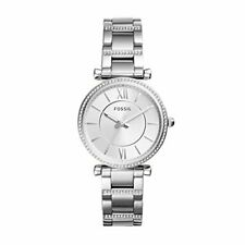 Fossil Women's Carlie Quartz Stainless Three-Hand Watch, Color: Silver (Model: