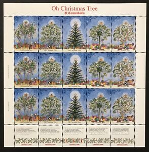 PALAU OH CHRISTMAS TREE STAMPS SHEET 1996 MNH O TANNENBAUM HOLIDAY STAMPS