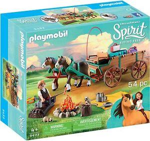 PLAYMOBIL Spirit Riding Free: Covered Wagon [Children's Toy 54 pcs Set 9477] NEW