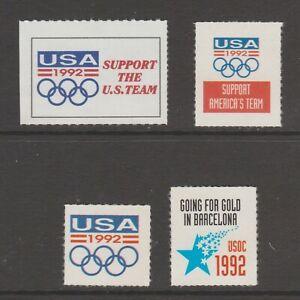 USA Cinderella Fund Raiser stamps 1-19-21- Barcelona Olympics 1992 mnh