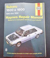 HAYNES REPAIR MANUAL 89003 ~ SUBARU 1600 & 1800 ~ 1980-1984