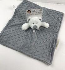 New Blankets & Beyond Nunu Lovey Lovie Minky Security Blanket 14.5x14.5 Bear