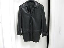 Ledermantel Long Jacket, Dreiviertel-Mantel, Grösse M, Antonio Braga Vintage TOP