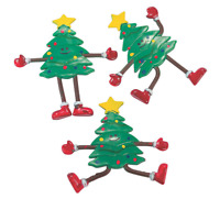 🎄 3 Christmas Tree Bendable Toys Bendy Posable Easter Basket! 15% OFF $35+ 🎅