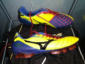 Mizuno Wave Ignitus Men's US 9.5 Rare Yellow Blue Red Pre-Owned by USL player