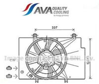 FD7559 Ventola, Raffreddamento motore (MARCA AVA)