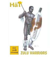 HAT 8191 1/72 Zulu Warriors 32 Unpainted Plastic Figures Toy Soldiers FREE SHIP