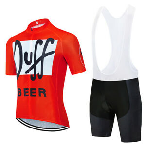 Duff Beer Cycling Jersey bib shrots Cycling Short Sleeve Jersey