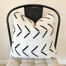 """Authentic African White And black Arrow Mud Cloth Pillow Sham 16"""""""