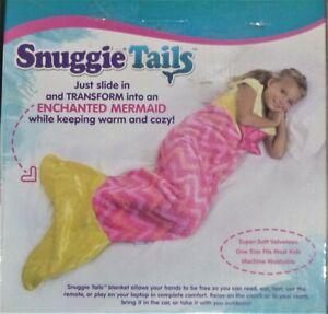 Brand New Snuggie Tails Pink Enchanted Mermaid Kids  Super Soft Blanket