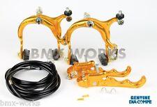 Dia-Compe MX883 - MX120 Gold & Black Brake Set - Old School BMX Style Brakes