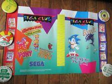 Sonic the Hedgehog Sega Genesis Club Video Game Book Cover Poster 1994 Promo