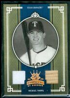 2005 Diamond Kings Materials Bronze B/W #230 Michael Young Bat-Jsy 100/100