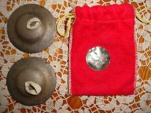 Vintage Zildjian Thin Finger Cymbals w/Original Bag~ Good Condition! Sound Great