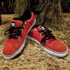 2011 Mens DC Shoes Anvil Red & Black Skateboarding Athletic Shoes 303190 Sz 12