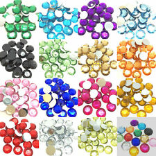 CAB2F1 25 Acrylic Faceted Flat Back 10mm Star Cabochons.
