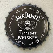 JACK DANIELS Vintage Wall Sign Retro Tin Plaque car Man Cave Bottle Top Sign