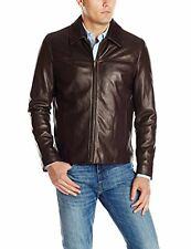 NEW Cole Haan Men's Smooth Lambskin Leather Collar Jacket Size XL - Java - $395