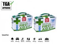 2x258pcs First Aid Kit Family Supplies Survival Medical Office Home Travel TGA