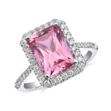 Natural Pink Spinel 3.64 carats set in 14K White Gold Ring
