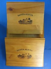 "Decorative 23"" Wooden Wall Pocket File Folder ~SANTA ALICIA WINE~ Ballard Design"