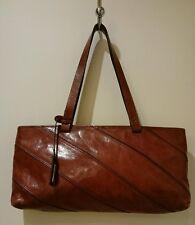 Danier Leather Chestnut Brown Leather Handbag