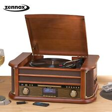 Music Centre Hifi System Turntable Vintage Stereo Record Player CD DAB MP3 USB