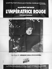 Affiche 120x160cm L'IMPÉRATRICE ROUGE (THE SCARLET EMPRESS) 1934 Dietrich R90s #