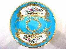 SEVRES PORCELAIN SAUCER UNUSUAL DECORATED BOTTOM - BIRDS CHAPPUIS DATE CODE 1781