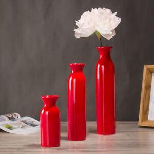 Red/Blue Ceramic Vase Wedding Vase Home Decoration Flower Pots Gifts