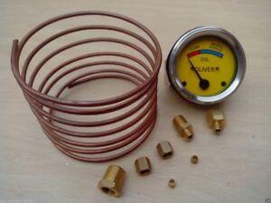 """Oliver Tractor Oil Pressure Gauge  Copper Line Kit - 6 ' 1/8"""" line"""