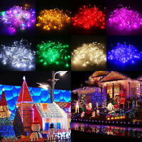Waterproof 10M/20M 100/200LED Bulbs Christmas Garden Fairy Party String Lights