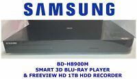 SAMSUNG BD-h8900m Smart 1Tb HDD 3d Blu-Ray Player & Freeview HD Recorder PVR